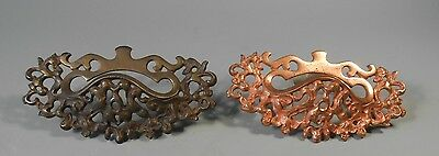 Very Fine Pair of Intricate Bronze ? Drawer Handle's Both Marked ca early 20th c