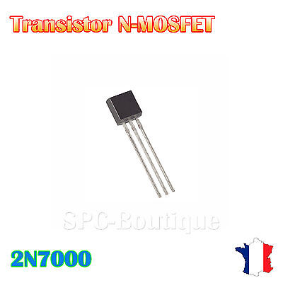 Transistors Unipolaire N-MOSFET 2N7000 TO92