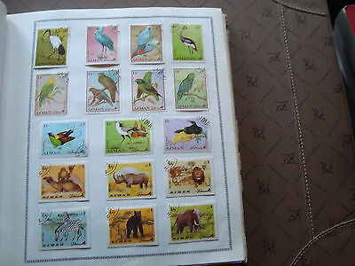 AJMAN - 17 timbres obliteres (animaux) stamp