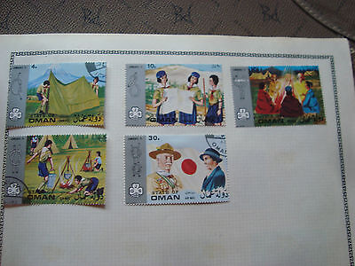 OMAN - 5 timbres obliteres (scoutisme) stamp