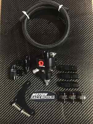 Magnafuel MP-9950-B-BLK Fuel Pressure Regulator Boost Ref LS1 kit w/ mount #6AN