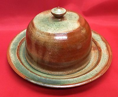Owens Pottery, North Carolina Art Pottery, Seagrove, N.C. Covered Butter Dish