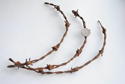 Old Barbed Wire - Dug Relics from German bunker - 1916 year Eastern Front Line