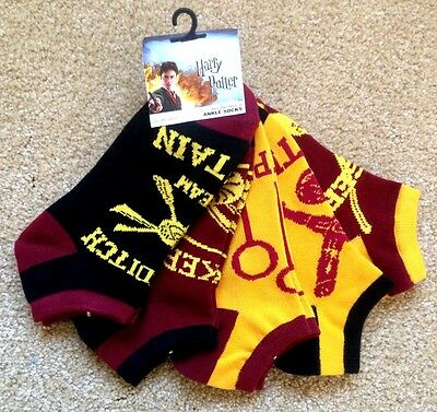NEW! Bioworld Harry Potter Mix and Match ankle Socks five pack sock size 9-11
