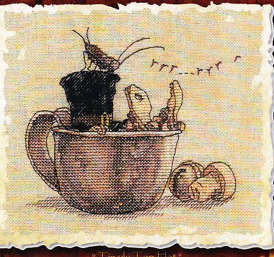 Le Chapeau Ivre  (the Drunken Hat) - sweet character cross stitch chart - Nimue