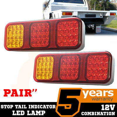 Pair Tail LED Stop Indicator Combination Lamp Submersible Light 12V CRL230