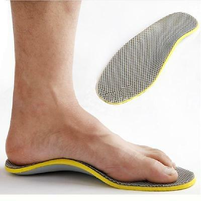 Foot 3D Premium Orthotic Flat feet High Arch Support Insoles Cuttable Pad Chic