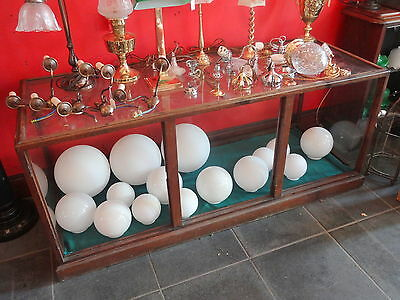 Antique Glass / Mahogany Showcase Or Shop Counter Display Cabinet