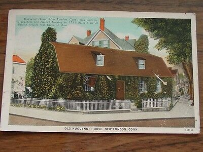 Old Huguenot House, New London, Connecticut-103157 American Art Colored-Postcard