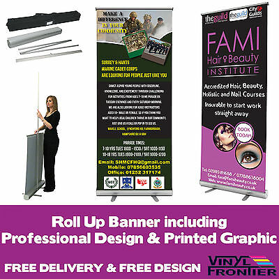 Roller Banner | Pull Up/ Roll Up Banner Sign Exhibition Trade Show Display Stand