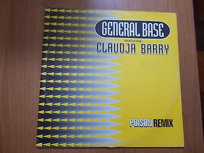 "12"" GENERAL BASE feat. CLAUDIA BARRY - POISON (Remix) 1993"
