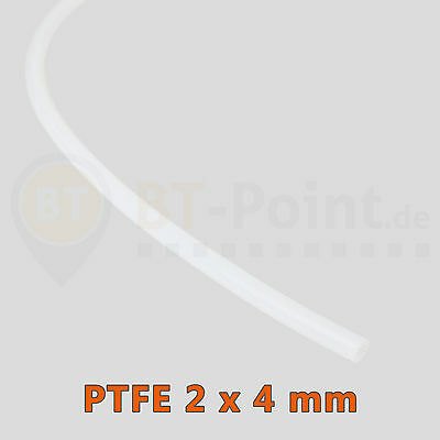 PTFE Teflon Schlauch 2 x 4mm 3D Drucker 1.75mm Filament RepRap Printer Tube PiPe