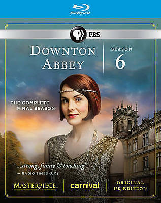 Masterpiece: Downton Abbey Series 6 (Blu-ray w/Slipcover, 2016, REGION B)