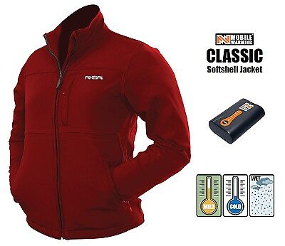 Womens Ansai Mobile Warming Battery Heated Electric Jacket Waterproof Breathable