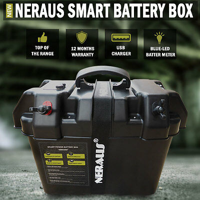 NEW Neraus Smart Battery Box AGM Deep Cycle Up To 130 AH Dual System
