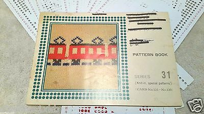 Brother Studio Singer Punch Card Set Series 31 Knit In Special Patterns 81-90