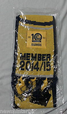#yy4.  Central Coaster Mariners 10 Years  Football Scarf 2004-2014