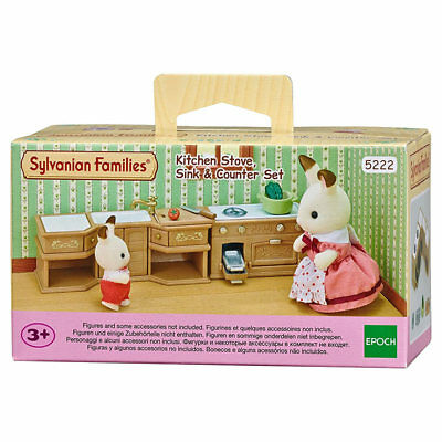 SYLVANIAN Families Kitchen Stove, Sink & Counter Set Dolls Furniture 5222