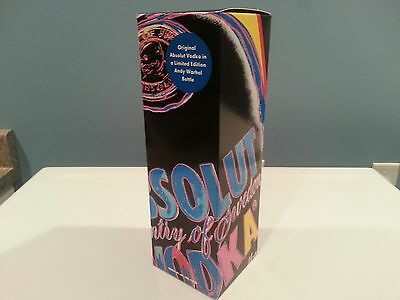 Absolut Vodka Limited Edition Andy Warhol 1 Liter Gift Box -Worldwide Shipping