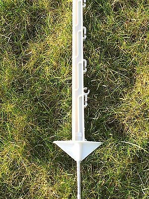 """FENCEMAN 20 X WHITE 5FT POLY POSTS - HORSE POST 150cm Tall Electric Fence 4ft 6"""""""