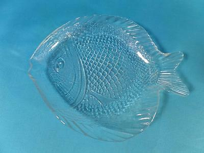 PASABAHCE Fish Shaped Glass Serving Desert Plate Made in Turkey