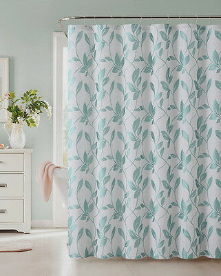 72 x 72 Room Essentials Shower Curtain Blue Leaves