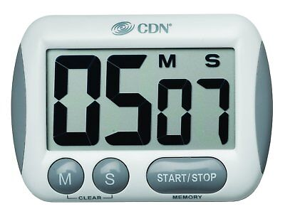 CDN Extra Large Big Digit Timer Loud Alarm Count Up/Down Espresso Coffee TM15