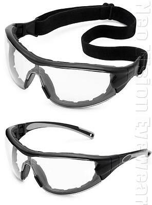 Gateway Swap Clear Lenses Padded Safety Glasses Hybrid Goggles Z87+