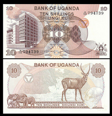 UGANDA 10 SHILLINGS 1979 P 11a UNC (10 NOTES)