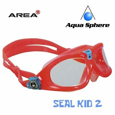 Aqua Sphere Seal Kid 2 Swimming Mask - Red, Children's Swimming Goggles, Kids
