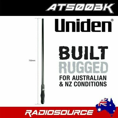 Uniden AT500BK 5.5 dbi UHF CB Heavy Duty All Black Antenna Package - 730mm