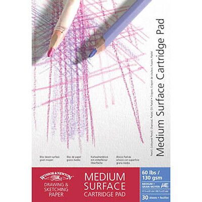 Winsor & Newton Medium Surface Cartridge Pads 130gsm A4. Artists Sketching Paper