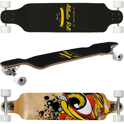 Longboard Skateboard Drop Through 107cm Skate Board ABEC 9 Holzboard Komplett