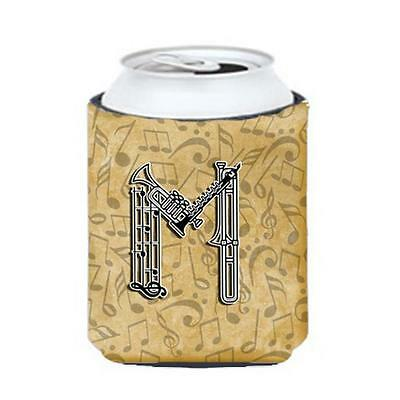 Carolines Treasures Letter M Musical Instrument Alphabet Can & Bottle Hugger