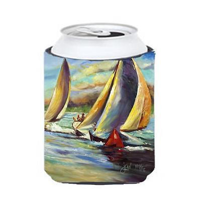 Carolines Treasures JMK1236CC Knost Reggata Sailboats Can & Bottle Hugger