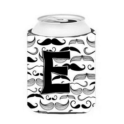 Carolines Treasures CJ2009-ECC Letter E Moustache Initial Can & Bottle Hugger