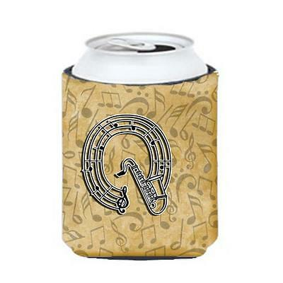 Carolines Treasures Letter Q Musical Instrument Alphabet Can & Bottle Hugger