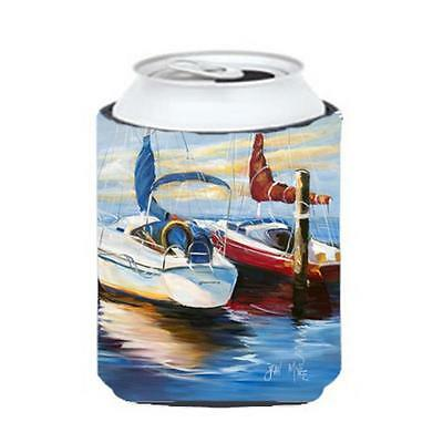 Carolines Treasures JMK1242CC Symmetry Sailboats Can & Bottle Hugger