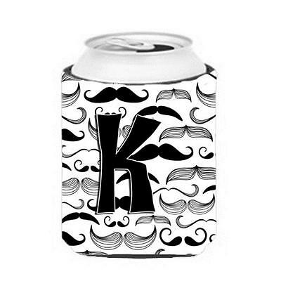Carolines Treasures CJ2009-KCC Letter K Moustache Initial Can & Bottle Hugger