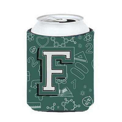 Carolines Treasures Letter F Back To School Initial Can & Bottle Hugger