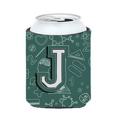 Carolines Treasures Letter J Back To School Initial Can & Bottle Hugger