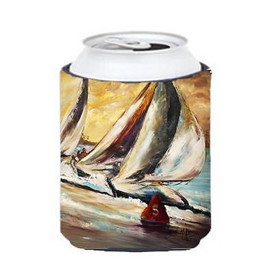 Carolines Treasures JMK1244CC Boat Race Sailboats Can & Bottle Hugger