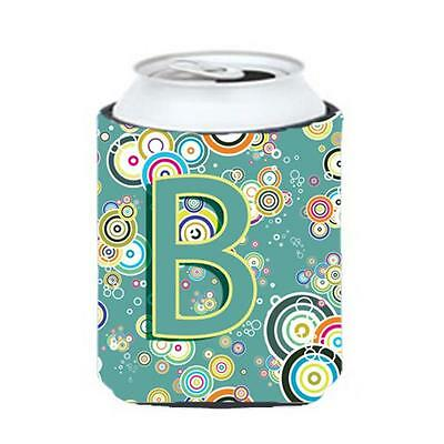 Letter B Circle Circle Teal Initial Alphabet Can & Bottle Hugger • AUD 45.90