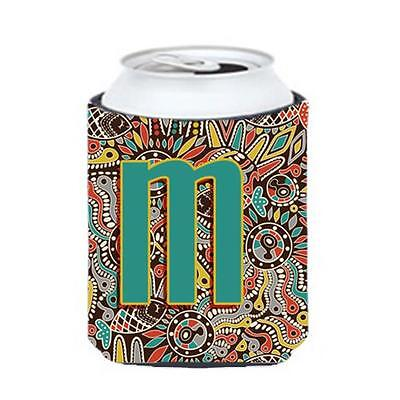 Carolines Treasures Letter M Retro Tribal Alphabet Initial Can & Bottle Hugger