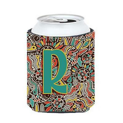 Carolines Treasures Letter R Retro Tribal Alphabet Initial Can & Bottle Hugger