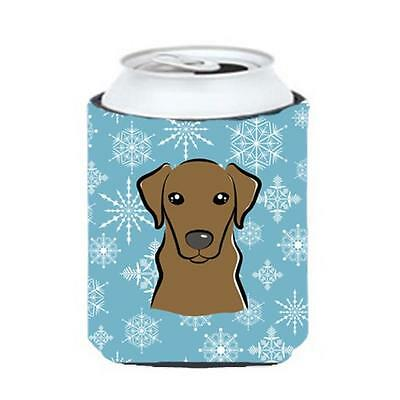 Carolines Treasures BB1668CC Snowflake Chocolate Labrador Can & Bottle Hugger • AUD 45.90