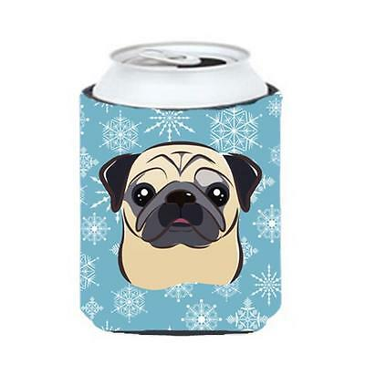 Carolines Treasures BB1696CC Snowflake Fawn Pug Can & Bottle Hugger