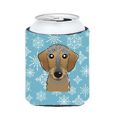 Carolines Treasures BB1667CC Snowflake Wirehaired Dachshund Can & Bottle Hugger