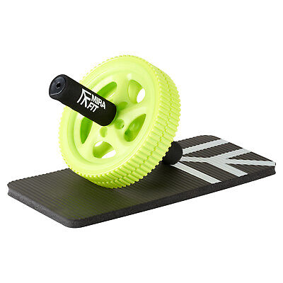MIRAFIT Ab Exercise Power Roller Abs Wheel & Pad Gym Core Stomach Muscle Workout
