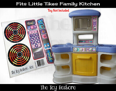 New Replacement Decals Stickers fits Little Tikes Family Kitchen Pastel Style